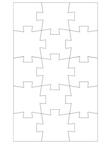 Jigsaw Puzzle Template - 15 Pieces