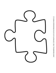 Puzzle Piece Template #4