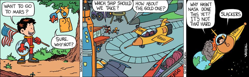 space comic strip