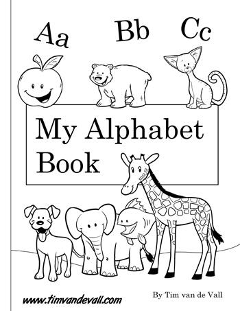 Alphabet Booklet - Black and White