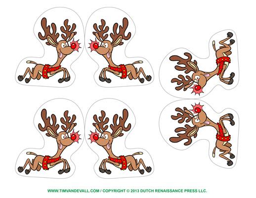 reindeer ornaments printable