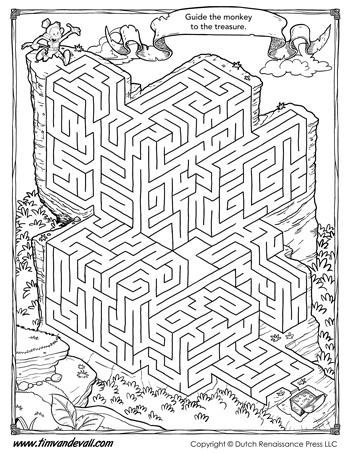 maze activity printable