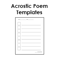 A page template, or web page template, often refers to a predesigned web page that you can customize. Printable Acrostic Poem Templates For Kids Pdf Format