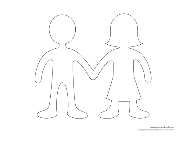 Blank Paper Doll Templates