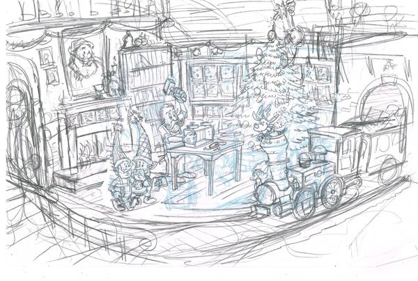 Santas workshop sketch