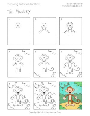 drawing easy tutorials disegni monkey tutorial facili draw disegno scimmia drawings printable lessons copiare beginners fare archzine idee timvandevall projects