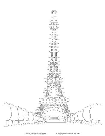 Eiffel Tower Dot-to-Dot