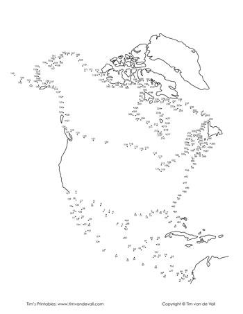North-America-Dot-to-Dot