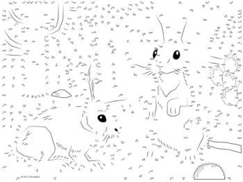 Cottontail Rabbit Dot-to-Dot