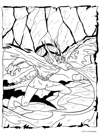 dragonfire coloring page