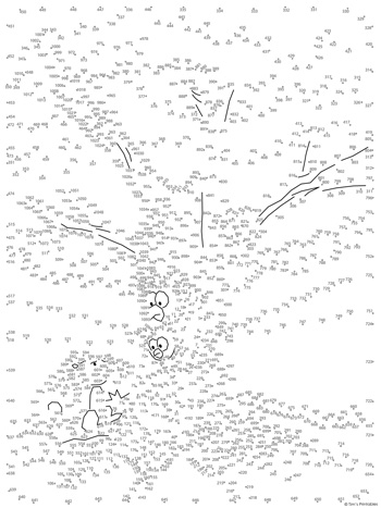 oak tree dot-to-dot