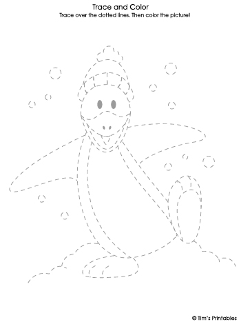 penguin tracing sheet