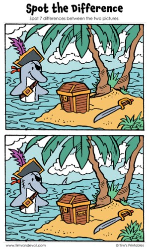 """Spot the Difference 11 - """"Dolphin Loot!"""""""