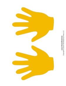 Handprint Templates - Yellow