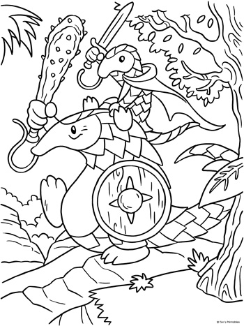 Pangolin Coloring Page
