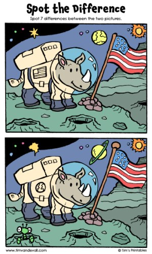 """Spot the Difference 09 - """"The Moon Rhino"""""""