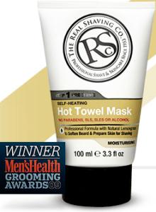 RealShaving Co. Hot Towel Mask Bottle from realshaving.com