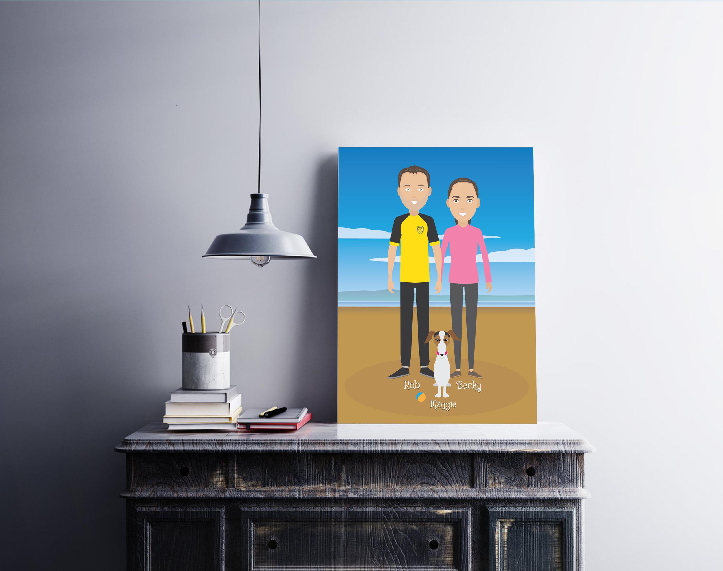 On the beach again in frame