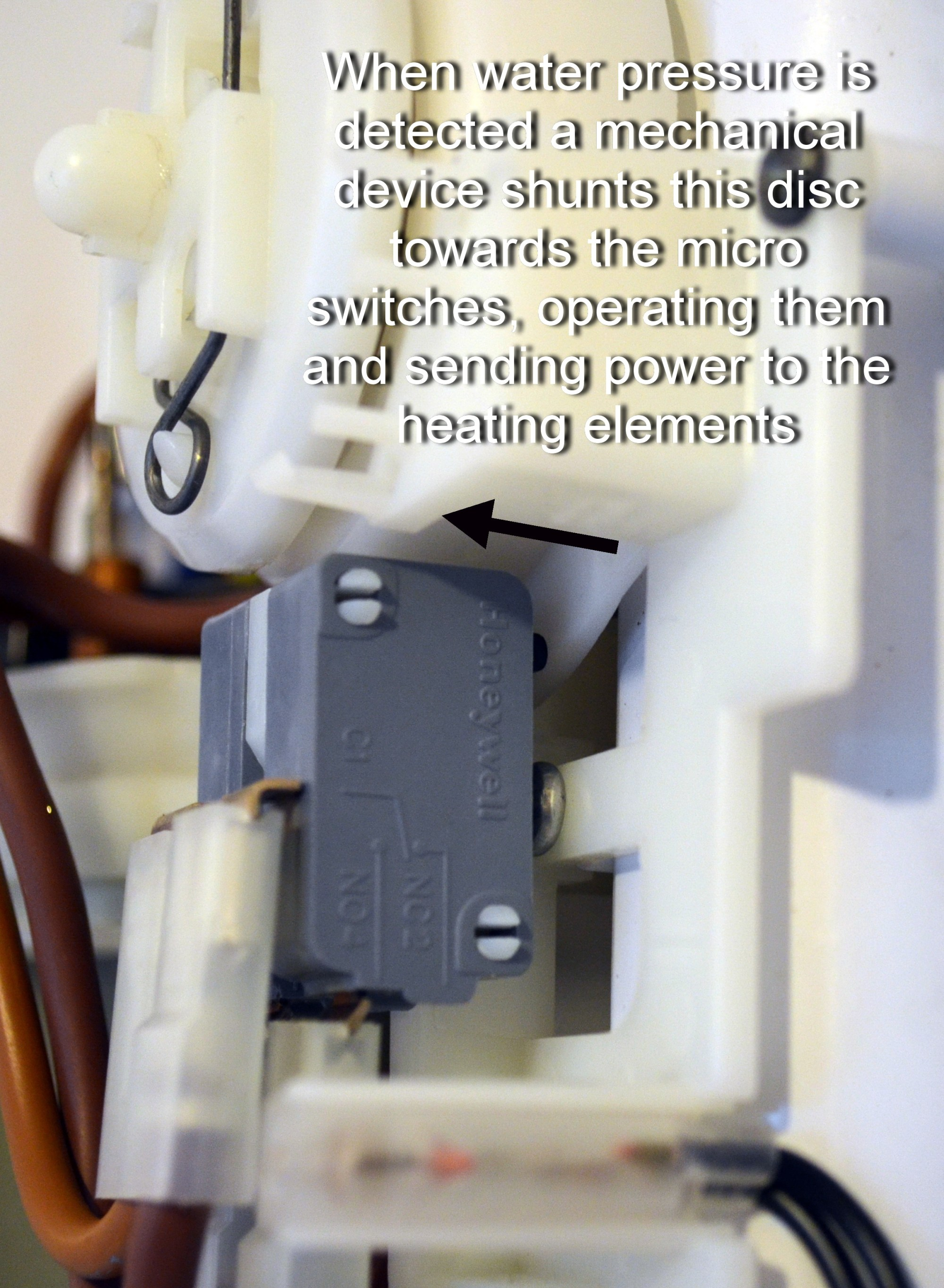 hight resolution of electric shower how micro switches are operated