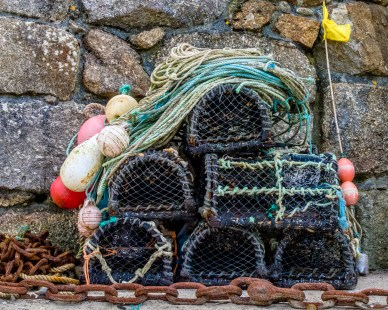 A Fisherman's Lobster Pots and Fishing Lines