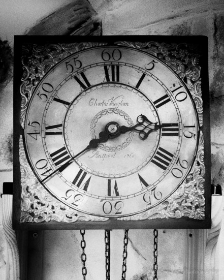 Old clock face.