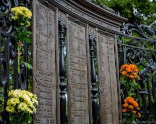 Remembrance Sunday, Hanbury Road War Memorial, Pontypool, 9th November 2014