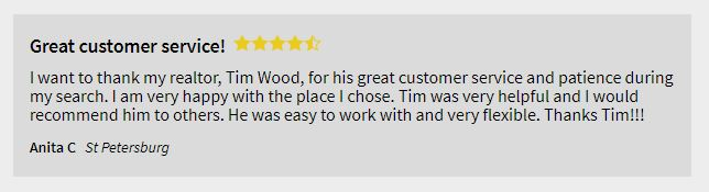Tim Wood, St Pete Realtor, Review