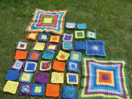 Die ersten Teile für die neue Decke