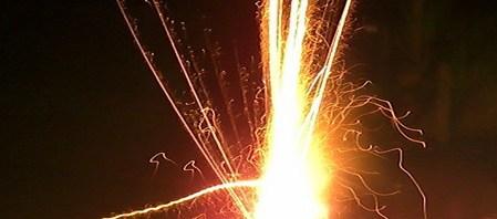 Feuerwerk Fontaine