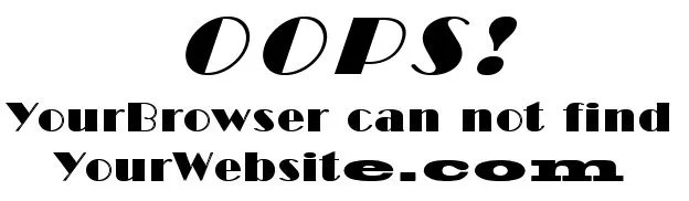 Oops Error Message often related to NameServer issues