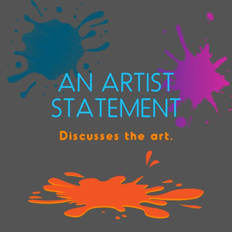 An Artist Statement discusses the art meme.