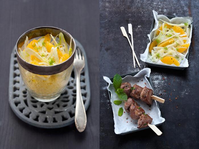 fennel orange salad with lamp chops