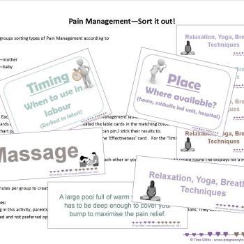 Pain Management Card Sort