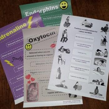 Affirmations & Hormones Mini Poster Set