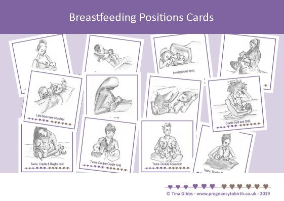 Breastfeeding Positions Cards - small