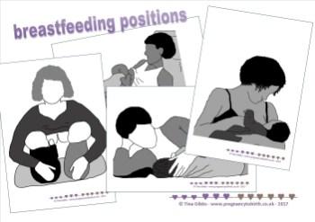 breastfeeding positions - printables