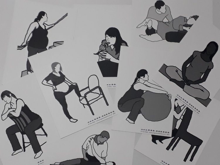 Positions for Childbirth Cards