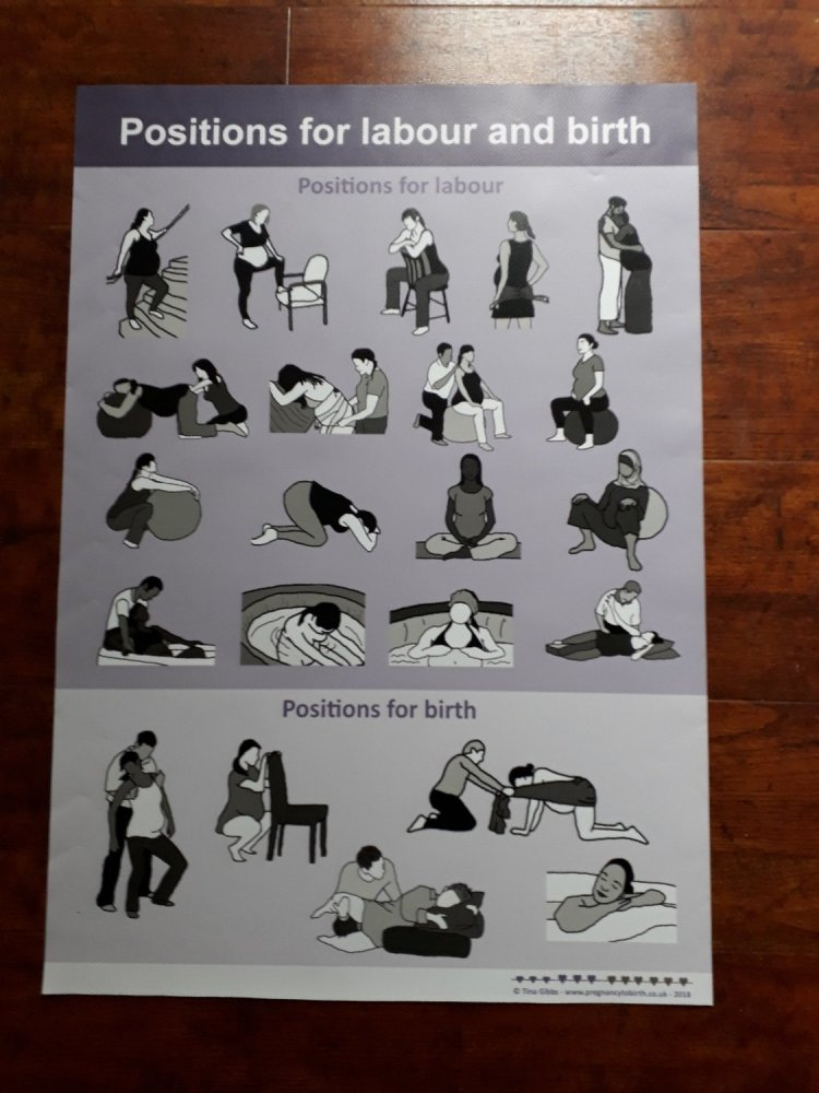 Positions for Labour & Childbirth Poster