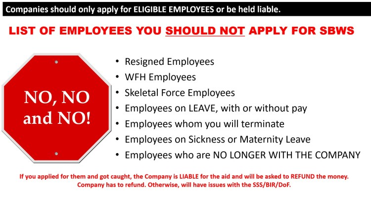 11 - Companies Should Only Apply for Eligible Employees or Be Liable