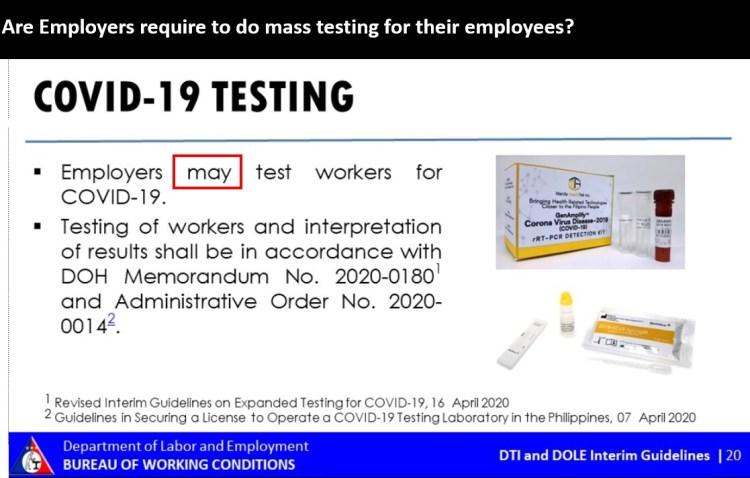 No mass testing