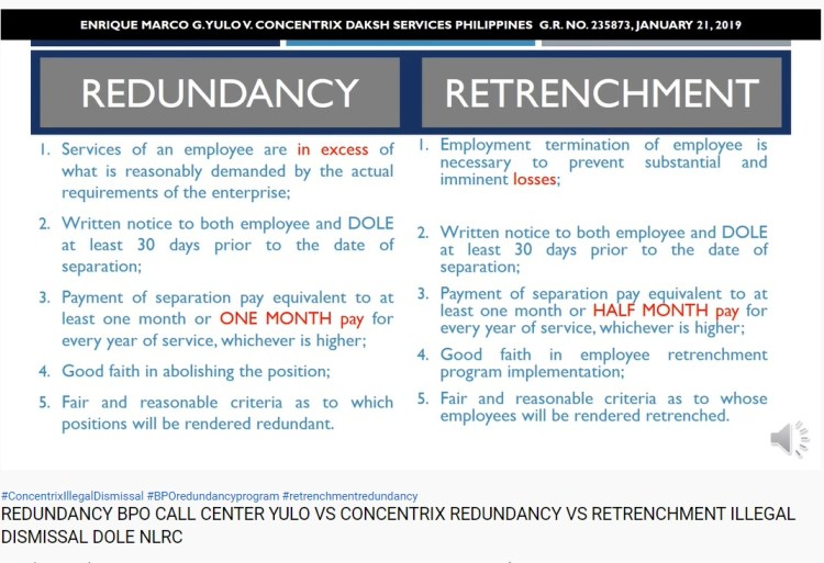 Redundancy vs. Retrenchment