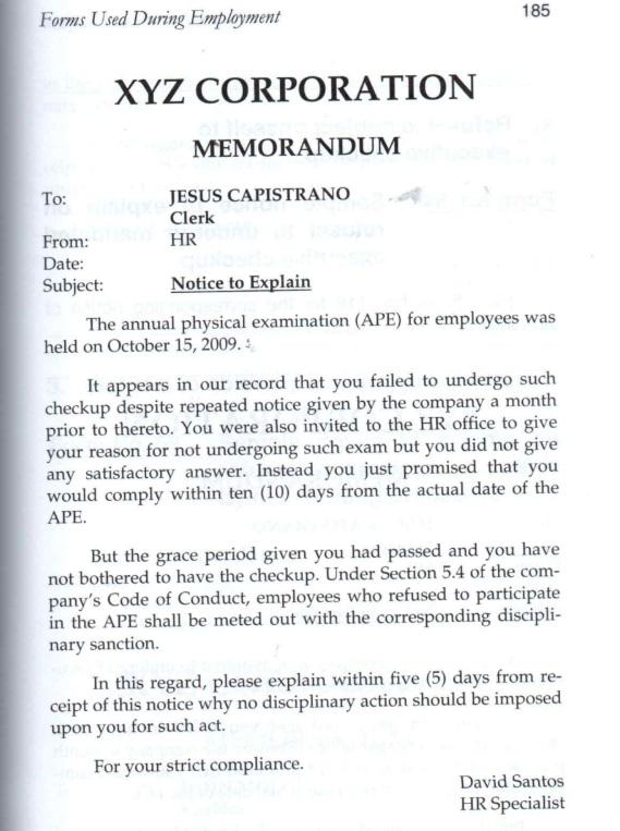 Refusal For Medical Examination