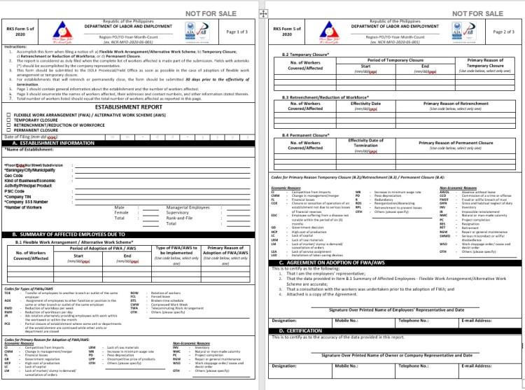 RKS Form 5