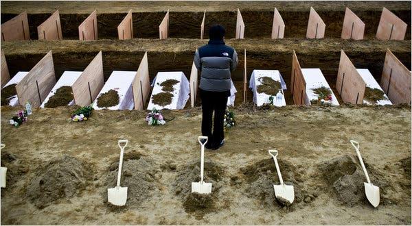 mass burial in Japan