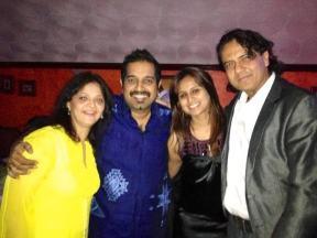 Tina Kundalia with Shankar Mahadevan