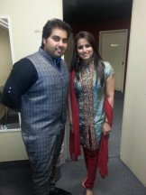Tina Kundalia with Vipul Mehta from Indian Idol