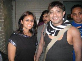 Tina Kundalia wth Sukhwinder Singh backstage