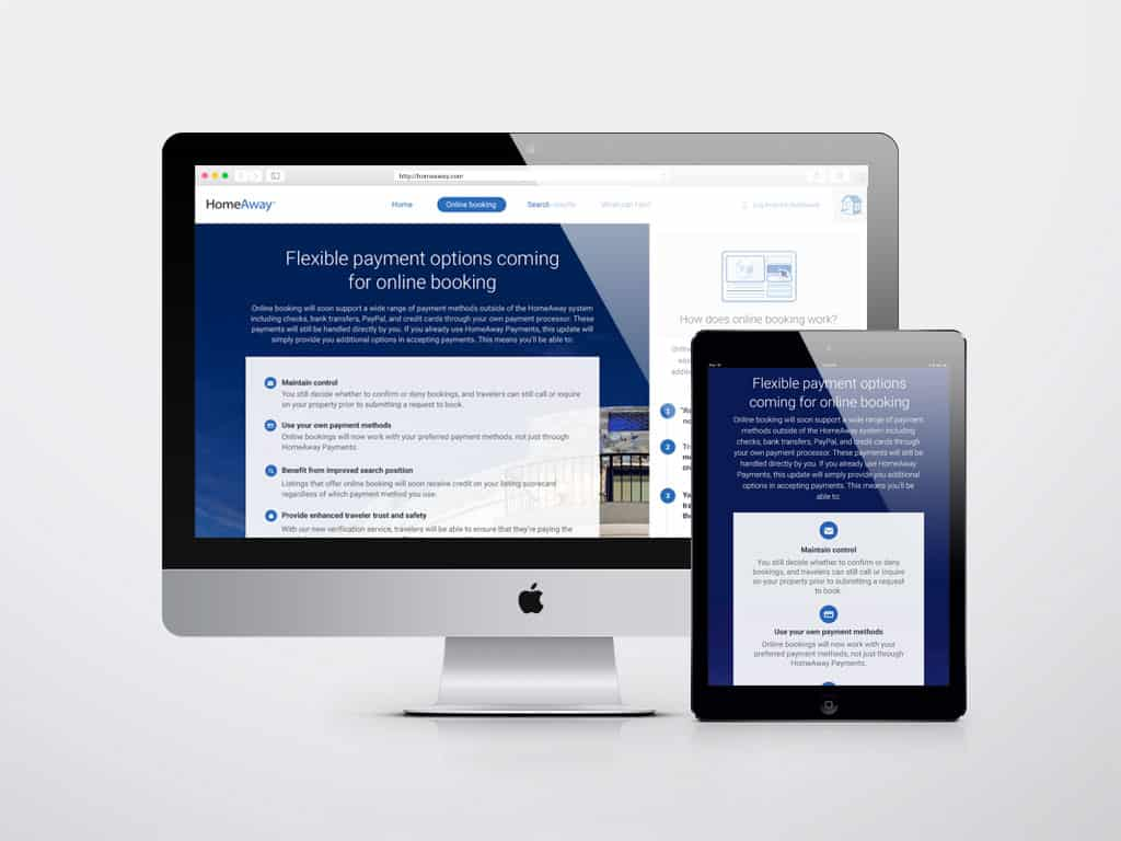 Responsive marketing page