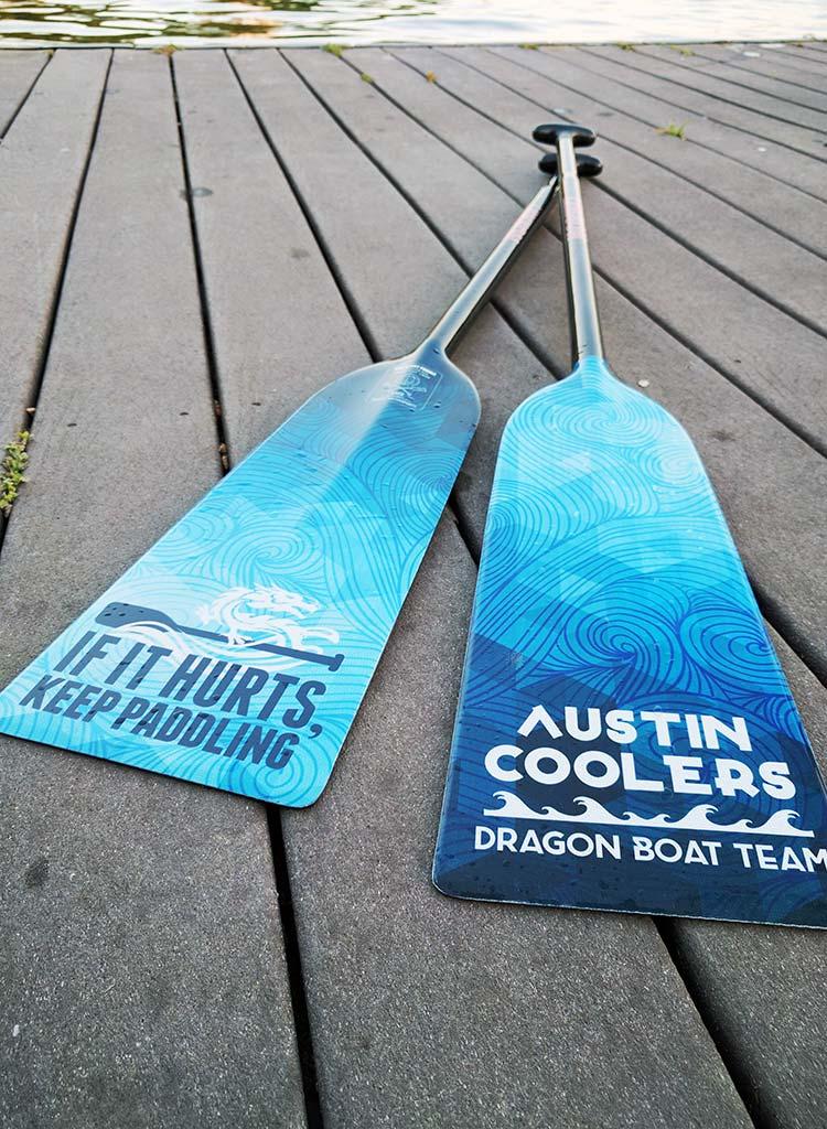 Austin Coolers custom paddle
