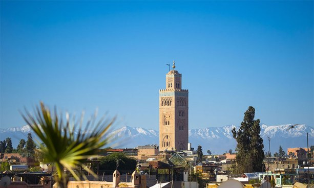 Marrakech city daylight